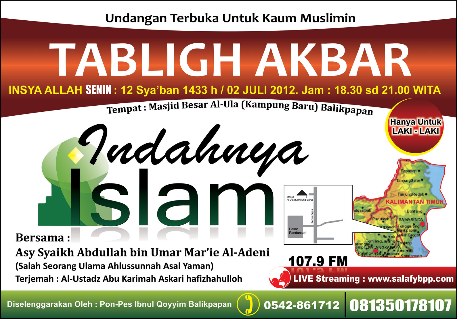 Tabligh Akbar Indahnya Islam Sesungguhnya Ilmu Itu Didapat Dg